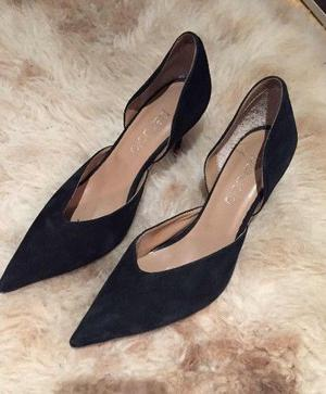 Zapatos Stilettos Gamuza Paruolo. Nuevos! Solo Una Postur
