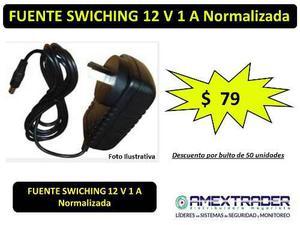 Fuente Switching 12v 1a Para Camara Cctv/tira De Led Amextra