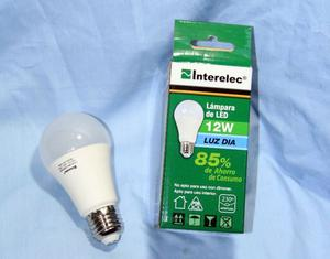 LAMPARAS LED INTERELEC 12 WATTS (PACK X10)