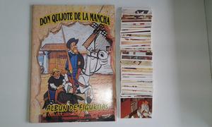 Vendo lote de 254 figuritas diferentes de don quijote de la
