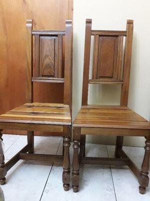 6 sillas respaldo de madera de roble
