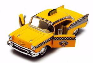 Auto De Coleccion Chevrolet Bel Air Taxi 1:40 Kinsmart
