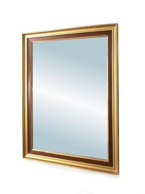 Espejo con marco de madera restaurado como nuevo