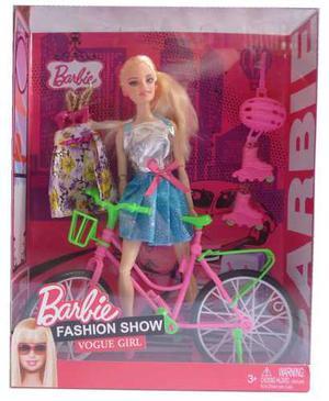 Muñeca Articulada Barbie Bicicleta Y Rollers Caballito
