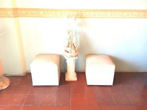 Puff Cubo color beige