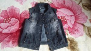 Chaleco Jeans Elastizado T M Poco Uso