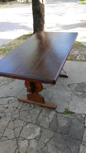 Oportunidad antigua mesa para comedor de algarrobo impecable