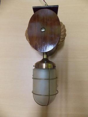 Vendo lampara colgante de roldana de barco