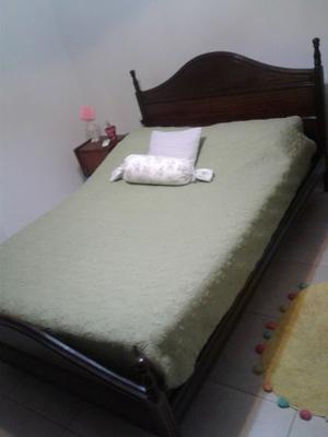 cama 2 plazas + colchon sommier