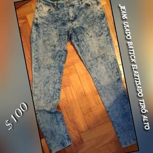 Jeans tiró alto elastizado Chupín buen estado