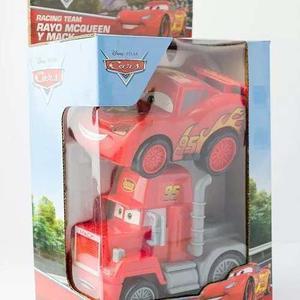 Set Cars Rayo Mcqueen + Camion Mack Original A Fricción