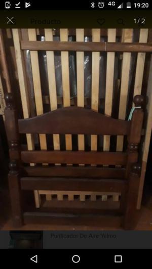 cama de 1 plaza de algarrobo
