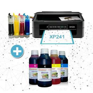 Impresora Epson Xp241 Sistema Continuo + 1 Litro De Tinta