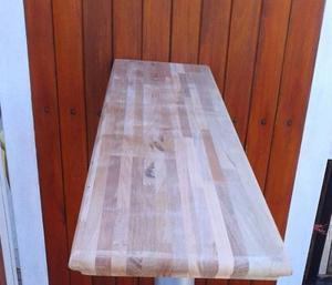 Tabla barra desayunador de madera + pata de madera 73cc273a2924