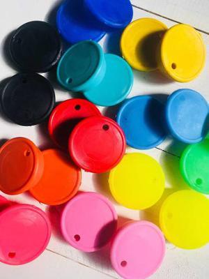 Tapas Plasticas Para Frasco De Mermelada Con Perforacion