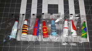 Kit 8 Llaveros Botellitas Coca Cola. Mundial Rusia