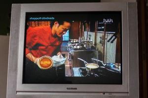 TV 29 pulgadas con control remoto, entrada de audio y video.