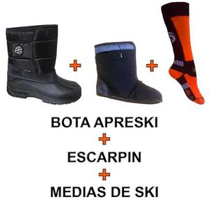 Botas Apreski Nieve C/ Escarpin Y Medias De Regalo
