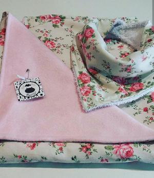 Mantitas de polar y algodón para bebé