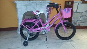 Vendo bicicleta de niña rodado 16 nueva con