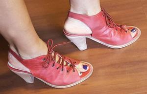 Zuecos zapatos sandalias mujer eco cuero