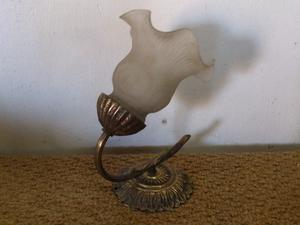 Aplique de bronce, aolique, luz, base de bronce