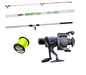 Combo Pesca Caña 3.0 + Reel 3 Rul + Tanza + Funda Promocion