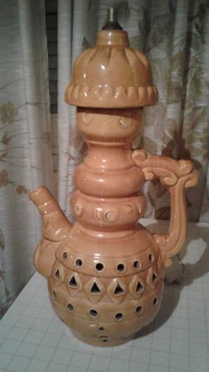 HERMOSA LAMPARA VELADOR de ceramica esmaltada