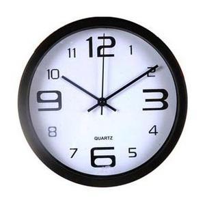 Reloj De Pared 30 Cm Plateado Y Negro!