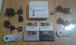 Super Nintendo Jr 100% Original + 2 Joysticks + 4 Juegos!