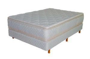 Colchon Y Sommier 2 Plazas. Resortes Somier Doble Pillow Top