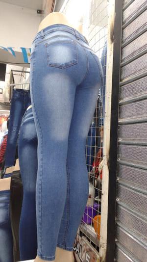 Jeans mujer chupin elastizado Talle del 36 al 46
