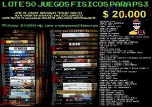 Lote x 50 Juegos Fisicos PS3