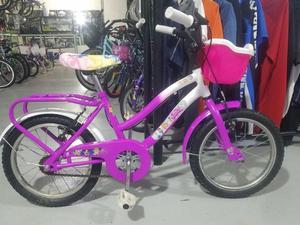 """Bicicleta de Paseo de Niña Rodado 16 Restaurada """"Pincesas"""""""