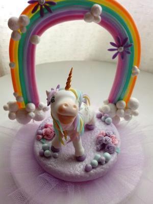 Adornos de unicornio en porcelana fria!!!