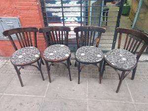 Sillas De Bar Restaurante Confiteria Estilo Thonet 26 Unds !