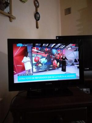 """TV Lcd HD Sony 22"""" control remoto. Impecable"""