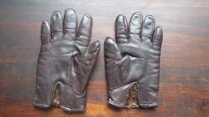Antiguos guantes de cuero y piel. Unisex hombre mujer