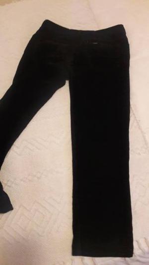 Jean de corderoy negro talle 36 MUJER marca LEE (T:46)