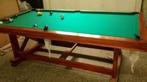 Mesa de pool y ping pong (2 en 1)