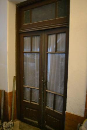 Puerta doble de frente en hoja y media posot class for Puerta doble madera