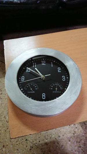 Reloj de pared para cocina o comedor de aluminio y plástico
