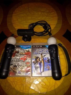 Vendo kit move con camarita de ps3