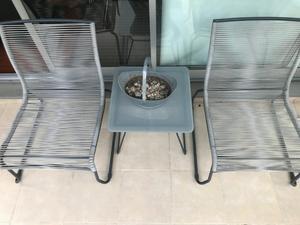 Juego de sillones y.mesa.de.vidrio