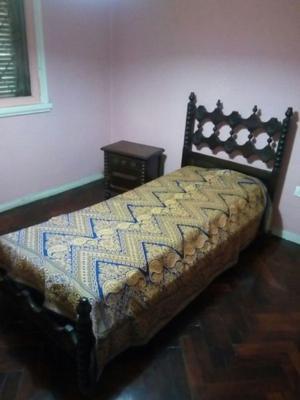 Juego dormitorio cama 1 plaza + respaldo + mesa de luz