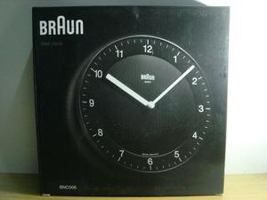 Reloj De Pared Braun Bnc006 Negro Nuevo Sin Uso En Su Caja