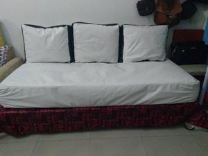 sillón cama blanco
