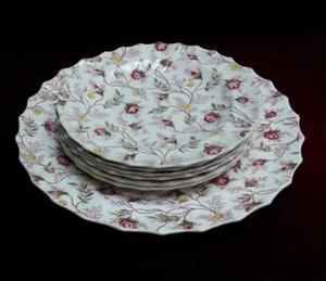 Juego de platos para masas loza inglesa Rosebud Chintz