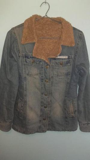 campera de jean y corderito