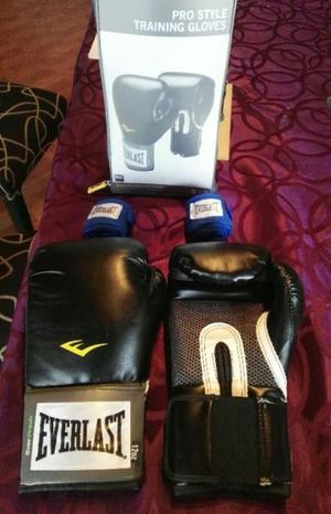 Guantes de boxeo everlast original + vendas